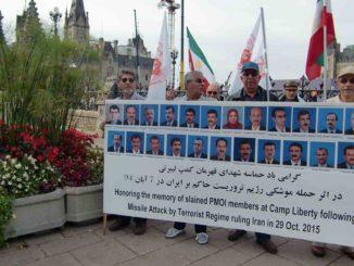 در بزرگداشت شهدای حمله موشکی به لیبرتی در 7 آبان 95