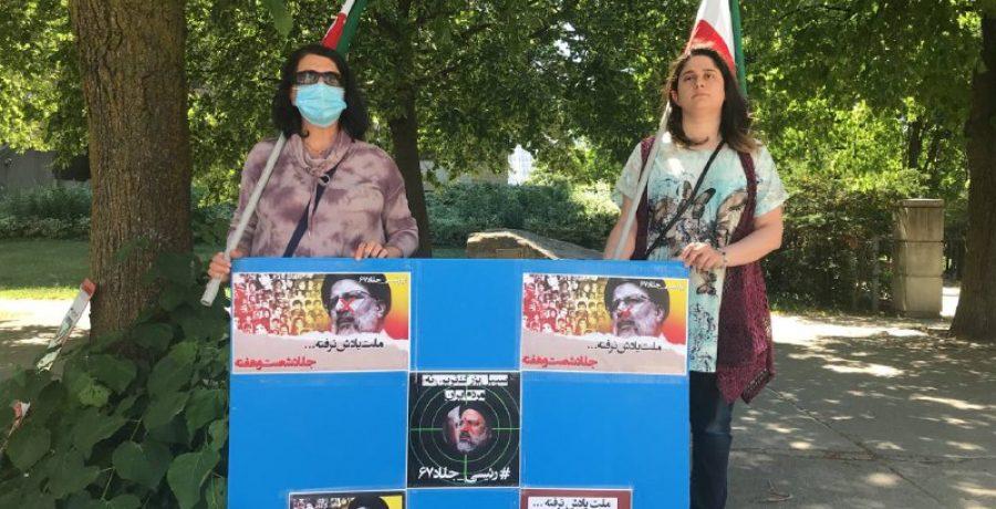 آکسیون یاران شورشگر در تورنتو مونترال و اتاوا- رأی من سرنگونی است