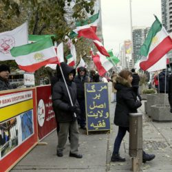 Demonstration in #Toronto Mel Lastman Square condemn human rights abuses and executions in #Iran, Blacklist #IRGC