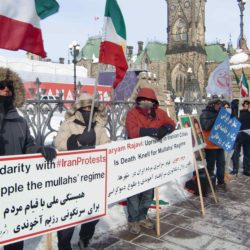 Canadian-Iranian protest in front of Parliament Hill in Ottawa on January 6th, 2018 + Photo & clip