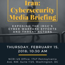 NCRI US Press conference on Cyber Repression in #Iran 15 Feb 2018 + video