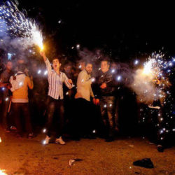 Political Protests Continue During Annual Fire Festival in Iran