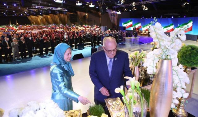At the Iranian New Year Celebration, Resistance Leader Calls for Continuation of Recent Uprising