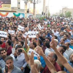 "Iran: Uprising of Brave People of Borazjan Chanting ""Death to the Dictator"""
