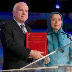 Iranian Opposition President-elect Maryam Rajavi Pays Tribute to Senator John McCain