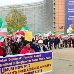 NCRI Supporters Rally In Denmark Against Iran Regime's Terrorism & Human Rights Abuses