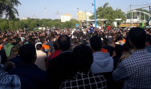Iran: Families, Students Widely Accompany Haft Tappeh Sugarcane Workers' Protest Rally + Videos