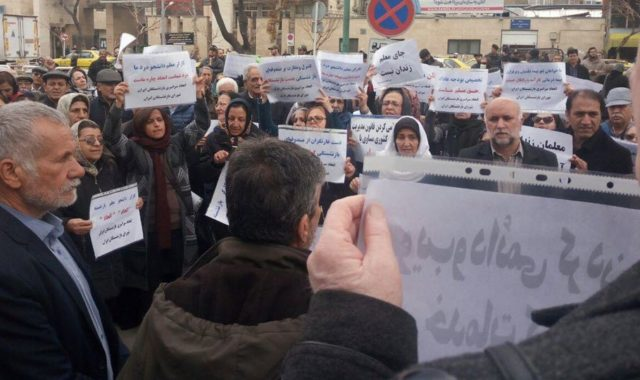 Iran: Demonstrations by Govt. Retirees in Tehran & Mashhad