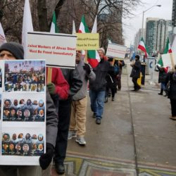 Iranian Activists in Canada Rally to Support Iran Protests For Democratic Change